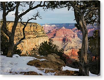Cliff Lee Canvas Print - Grand Canyon At Sunrise by Mary Lee Dereske