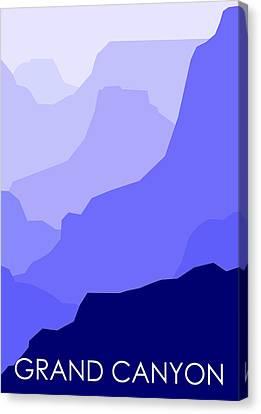 Grand Canyon Blue - Text Canvas Print by Asbjorn Lonvig
