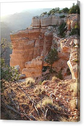 Canvas Print featuring the photograph Grand Canyon Bluff by Nancy Taylor
