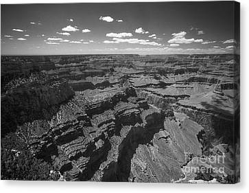 Canvas Print featuring the photograph Grand Canyon Bw1 by Stan and Anne Foster