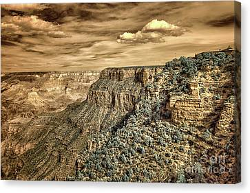 Grand Canyon In Infrared Canvas Print