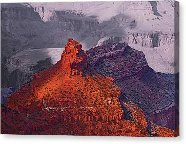 Grand Canyon In Red And Blue Canvas Print by Viktor Savchenko