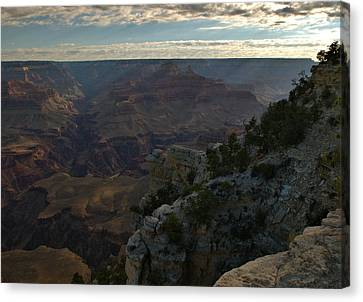 Canvas Print featuring the photograph Grand Canyon Monring by Stephen  Vecchiotti