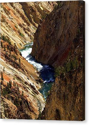 Grand Canyon Of The Yellowstone 1 Canvas Print by Marty Koch