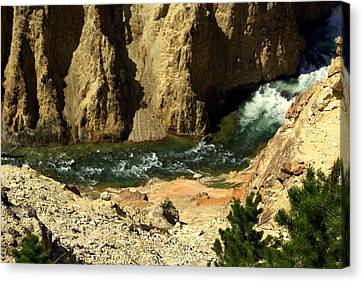 Grand Canyon Of The Yellowstone 3 Canvas Print by Marty Koch