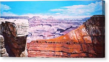 Grand Canyon Scene Canvas Print by M Diane Bonaparte