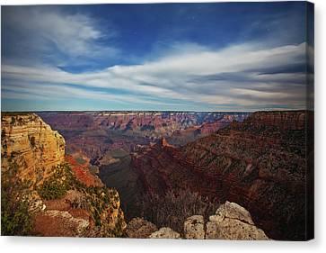 Grand Canyon Stars Canvas Print by Darren White
