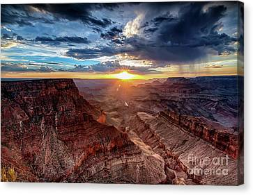 Grand Canyon Sunburst Canvas Print