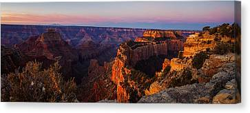 Grand Canyon Sunrise Panoramic Canvas Print by Scott McGuire
