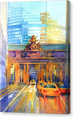 Grand Central Before Six, Driver Canvas Print by Virgil Carter