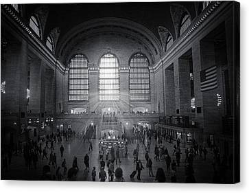 Grand Central Monochrome  Canvas Print by Jessica Jenney