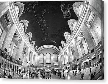 Canvas Print featuring the photograph Grand Central Station by Mitch Cat