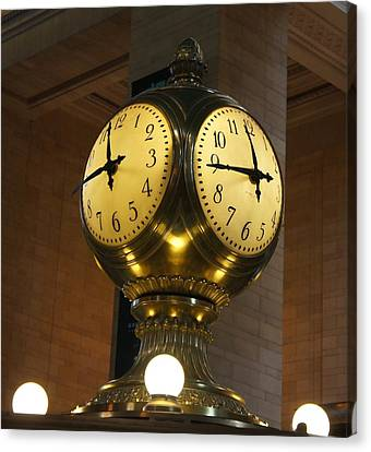 Nyc Canvas Print - Grand Central Terminal Clock by Art Spectrum
