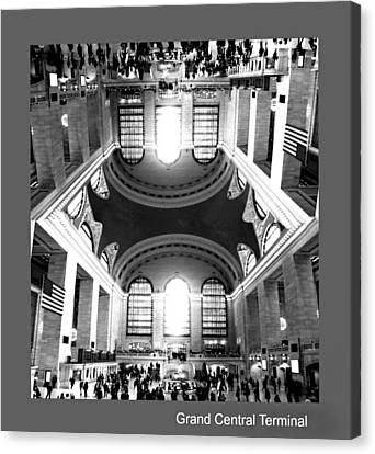 Canvas Print featuring the photograph Grand Central Terminal Mirrored by Diana Angstadt