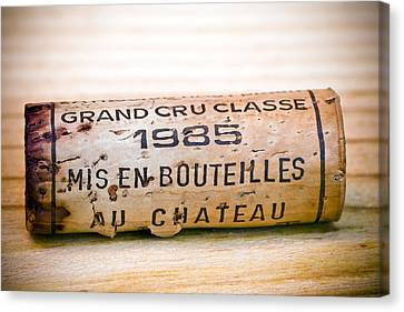 Cellar Canvas Print - Grand Cru Classe Bordeaux Wine Cork by Frank Tschakert