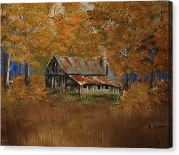 The Grand Place Canvas Print - Grand Dad's Farm #1 by Bobbie Roberts