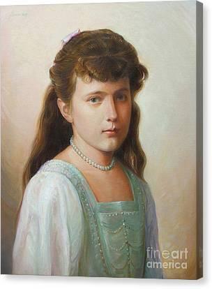 Grand Duchess Anastasia Nikolaevna Of Russia Canvas Print by George Alexander