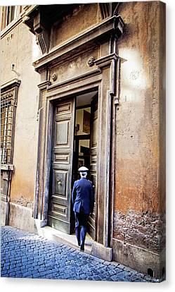 Grand Entrance - Rome, Italy Canvas Print
