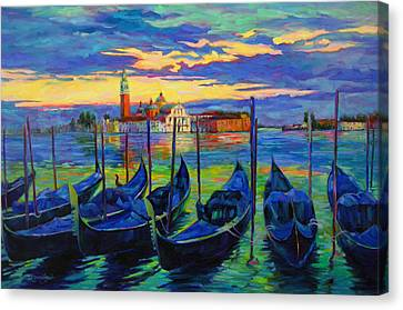 Canvas Print featuring the painting Grand Finale In Venice by Chris Brandley