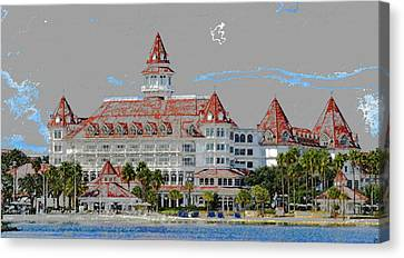 Grand Floridian In Summer Canvas Print