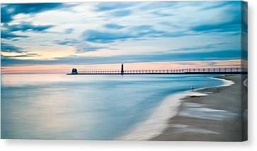 Grand Haven Pier - Smooth Waters Canvas Print