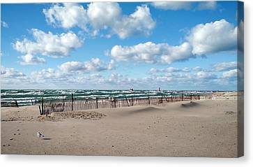 Grand Haven State Park Canvas Print by Michelle Calkins
