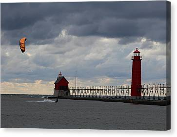 Grand Haven Wind Surfing Canvas Print