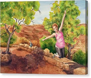 Grand Leap Canvas Print