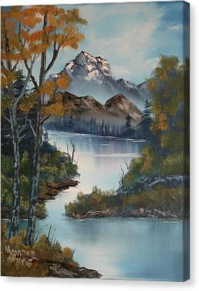 Grand Mountain Canvas Print by Larry Hamilton