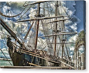 Canvas Print featuring the photograph Grand Old Sailing Ship by Roberta Byram