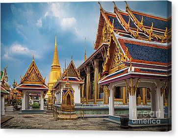 Grand Palace Square Canvas Print by Inge Johnsson
