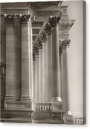 Grand Pillars At Dawn Canvas Print