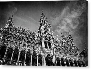 The Grand Place Canvas Print - Grand Place Architecture Brussels  by Carol Japp