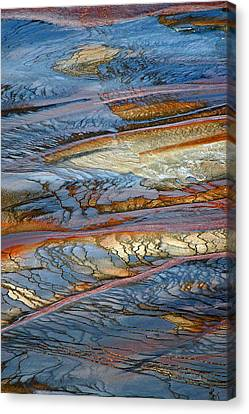 Grand Prismatic Runoff Canvas Print by Bruce Gourley