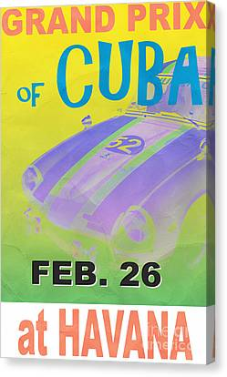Grand Prix Of Cuba Rally Poster Canvas Print