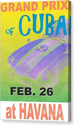 Cuba Canvas Print - Grand Prix Of Cuba Rally Poster by Edward Fielding