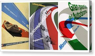 Grand Prix Trio - Le Mans - Monza Canvas Print by Georgia Fowler