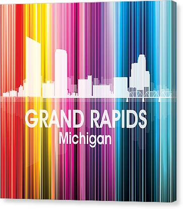 Grand Rapids Mi 2 Squared Canvas Print