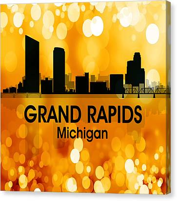 Grand Rapids Mi 3 Squared Canvas Print