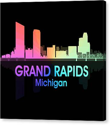 Grand Rapids Mi 5 Squared Canvas Print