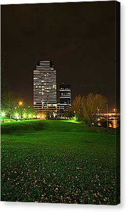 Grand Rapids Mi Under The Lights-5 Canvas Print by Robert Pearson