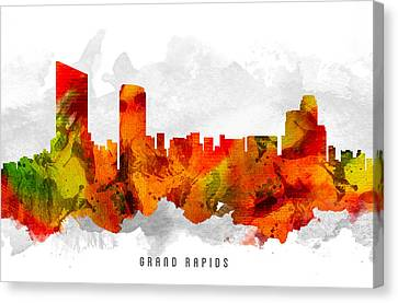 Grand Rapids Michigan Cityscape 15 Canvas Print by Aged Pixel