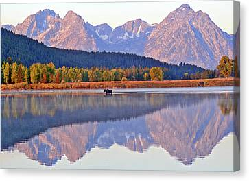 Grand Reflections Canvas Print by Scott Mahon