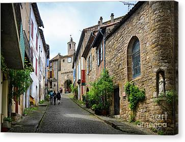 Grand Rue De L'horlogue In Cordes Sur Ciel Canvas Print by RicardMN Photography