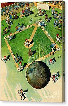 Grand-slam Homerun 1913 Canvas Print by Padre Art