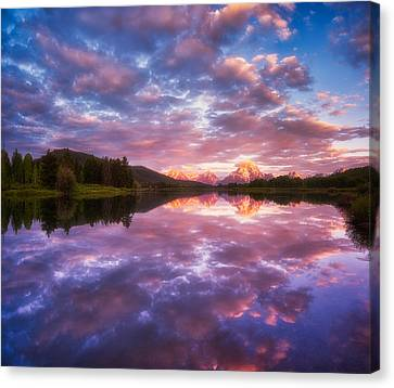 Grand Sunrise Canvas Print by Darren  White