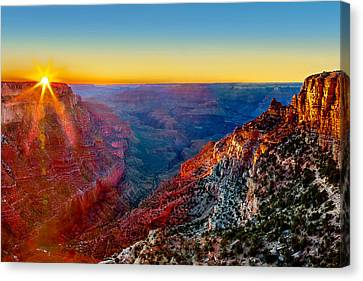 Touching Canvas Print - Grand Sunset by Az Jackson