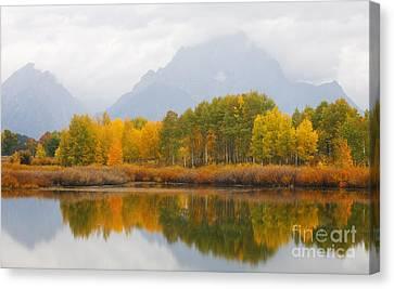 Grand Teton Iv Canvas Print by John Blumenkamp