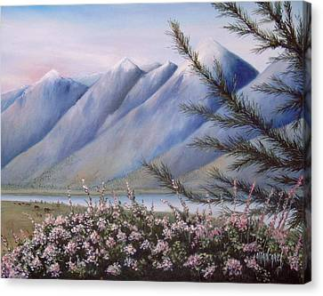 Grand Teton Mountains Canvas Print by Allan Carey