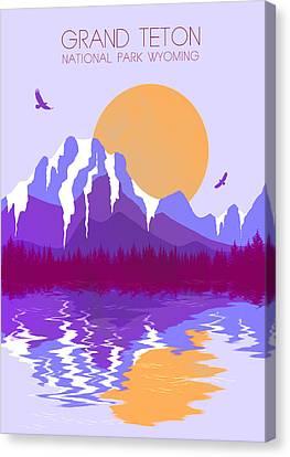 Grand Teton National Park 3 - By  Diana Van Canvas Print by Diana Van